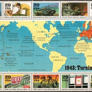 1993 - World War II Souvenir Sheet (U.S. Postage) - Stamps