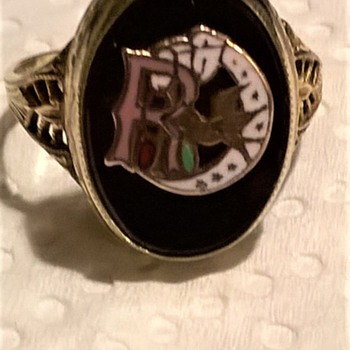Odd Fellows Order Of Rebekah Art Deco Ring Antique Center Find $19 - Fine Jewelry