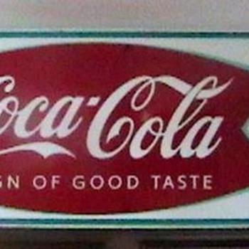 1963 Fishtail Coca-Cola Sign - Coca-Cola