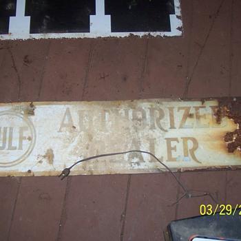 gulf dealer sign - Petroliana