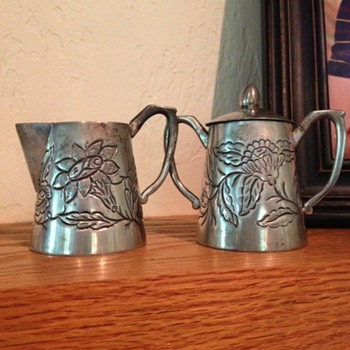 Tobias A. (Taxco?) Sterling 925 Cream and sugar - Silver