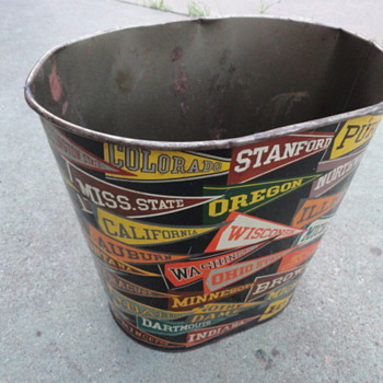 College Football Trash Can