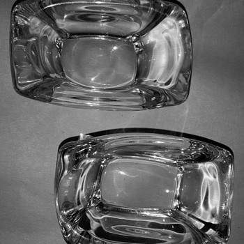 The 'new kids' - two small Daum salt cellars - Art Glass