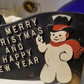 Vintage Christmas card holder - Christmas