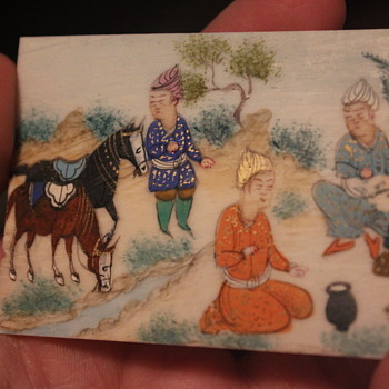 An Eastern Hand-Painted Porcelain Panel - Asian
