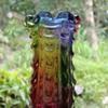 A Hokuyo Glass rainbow vase from Japan