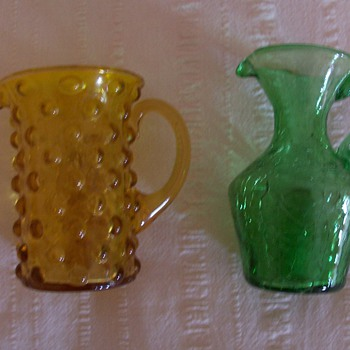 hobnail and crackle - Glassware