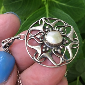 Antique Silver Pendant - Arts and Crafts
