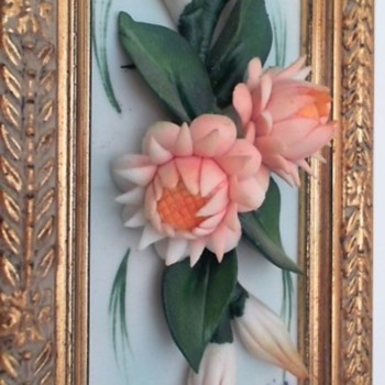 Pair of Signed Visconti Mollica Capodimonte Plaques