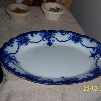 Flow Blue Manila Platter