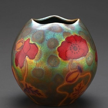 Poppy Vase by Zsolnay - Pottery