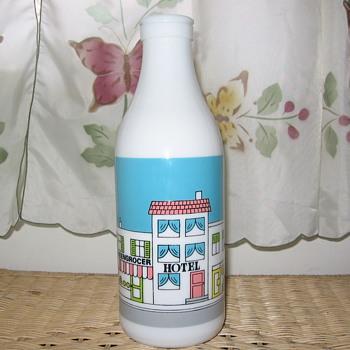 MILK GLASS BOTTLE FROM CARLTON GLASS - Bottles