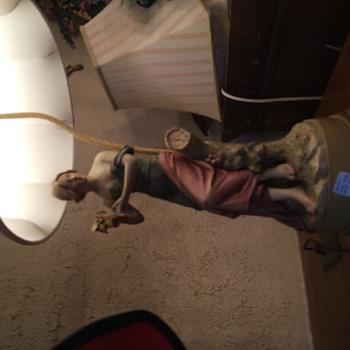 Royal Dux Art Nouveau Lady Lamps - Lamps