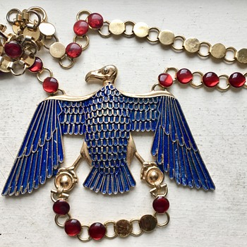 Vintage Napier Egyptian Revival Vulture Necklace  - Costume Jewelry