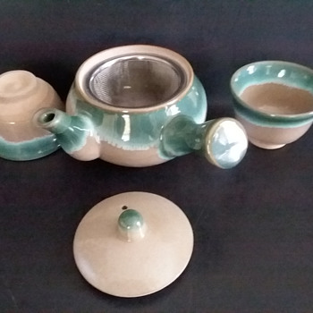 Japanese tea set, mystery mark. - Asian