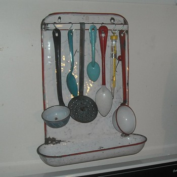 Graniteware/Enamelware Utensil Rack - Kitchen