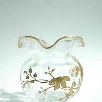art nouveau vase probably legras or baccarat - Art Nouveau