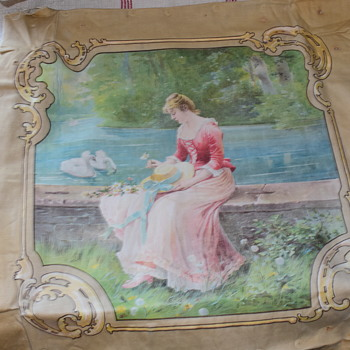 Victorian Linen Panel - Sewing