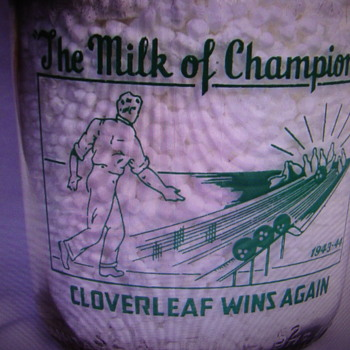 CLOVERLEAF SANITARY DAIRY WITH BOWLING SCENE......... - Bottles