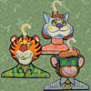 Dated 1967 Colorful Psychedelic MOD Animal Clothes Hangers