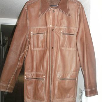 Reversible levi leather jacket