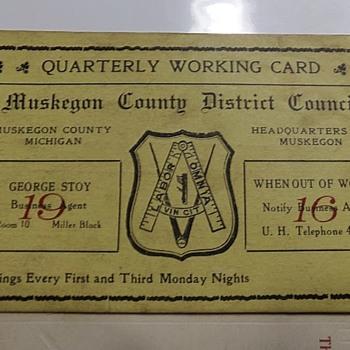 1916 Union Card? - Cards