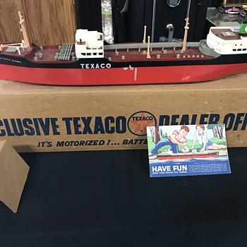 Texaco oil tanker ship  - Petroliana