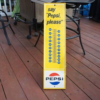 Pepsi thermometer... age?? - Advertising