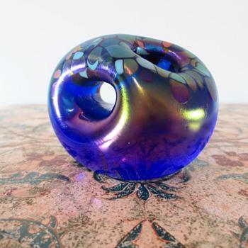 Chuck Simpson Paper weight - Art Glass