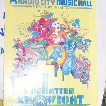 Showboat - Radio City Music Hall Playbill and an invitation to dinner from President Jimmy Carter - Advertising