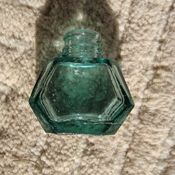 Antique  1800's Japanese Ink Bottle  - Bottles