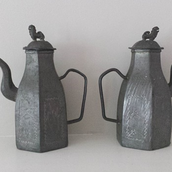 Chinese Pewter Teapots - Asian