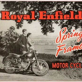 "1954 - ""Royal Enfield"" Motorcycles Brochure"