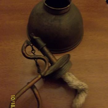 Oil lamp? Very primitive.