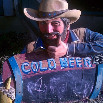 unknown vintage chalkboard beer sign