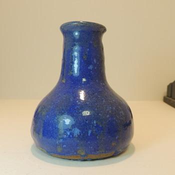 Redware Jar - Deep Blue Glaze -  Help Please - Pottery