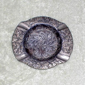 Pewter Ashtray - Occupied Japan - Tobacciana