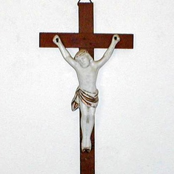 Crucifix - Wood and Porcelain