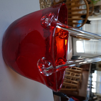 Red Glass Purse for Block - Art Glass
