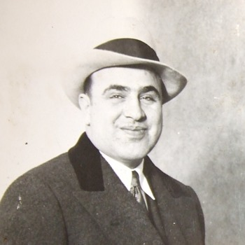 Early photo of Al Capone - Mens Clothing