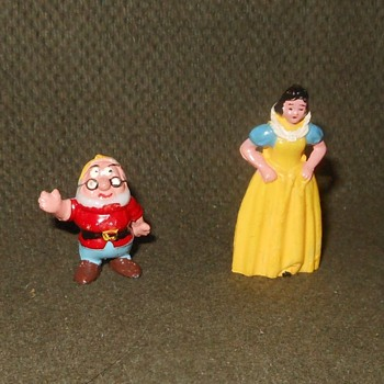 Marx Disneykins Snow White and Doc 1961- Early 1970s - Advertising