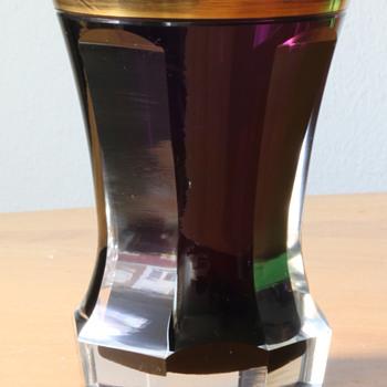 cased and cut Biedermeier beaker from circa 1840 - Art Glass