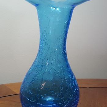 Blue Crackle Vase