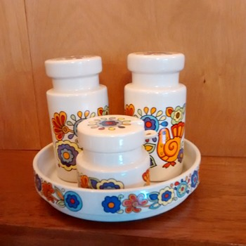 1960s condiment set - Pottery