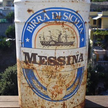 Oversized Beer Can from Birra di Sicilia (Messina) dal 1923 - Breweriana