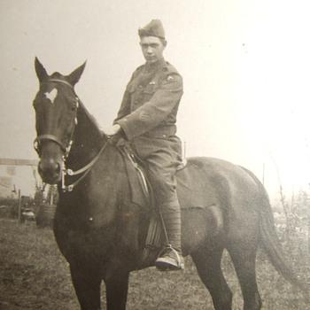 WW1 US Occupation trooper on horseback - Photographs
