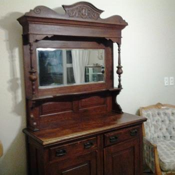 1800s oak buffet - Furniture