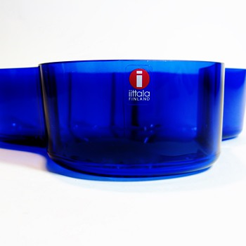 "ALVAR AALTO 1898-1976 / ""BLUE"" - Art Glass"