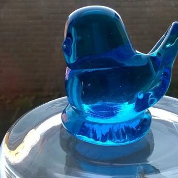 Bluebird Of Happiness, Terra Studios, Fayetteville, Arkansas 1989 - Art Glass