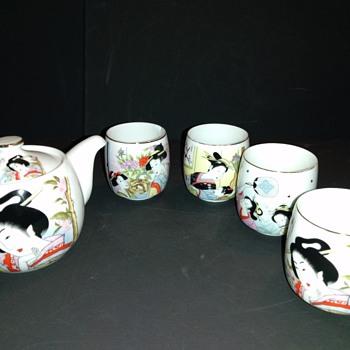 Japanese Geisha Tea /Sake Set - Asian